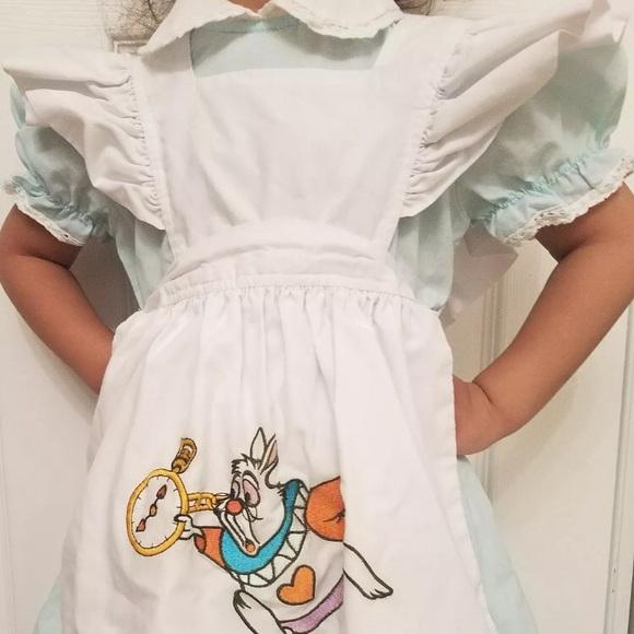 7906a1bc4d4 Disney Other - Vintage DISNEY STORE ALICE IN WONDERLAND DRESS 3T